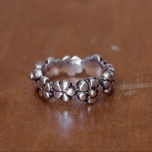 Pandora Floral Two-tone Ring